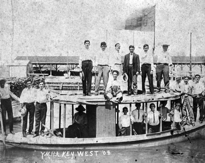 Members of the Young Men's Hebrew Association on an outing, 1908. State Archives of Florida.Picture