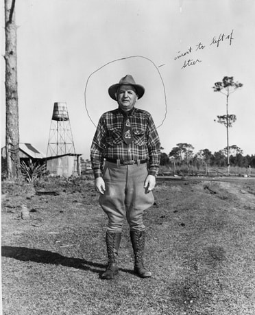 PictureSaul A. Snyder, St. Augustine rancher, late 1940s. State Archives of Florida.